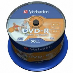 VERBATIM 43533 Verbatim DVD-Rcake box 50 4.7GB 16x do nadruku Wide