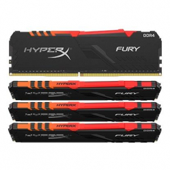 KINGSTON HX424C15FB3AK4/32 Kingston HyperX FURY 32GB 2400MHz DDR4 CL15 DIMM (Kit of 4) 1Rx8 RGB
