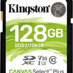 Karta pamięci Kingston 128GB SDXC Canvas Select Plus 100R C10 UHS-I U3 V30