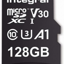 Karta pamięci INTEGRAL 128GB High Speed microSDXC card V30 UHS-I U3 100/30
