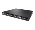 Switch Cisco Catalyst 3650 48 Port Full PoE, 1025W AC PS, 2x10G Uplink, IP Base