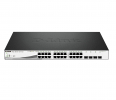 Switch D-Link 20-port GE PoE 370W Layer 3 Stackable Managed Gigabit Switch 4-port Combo