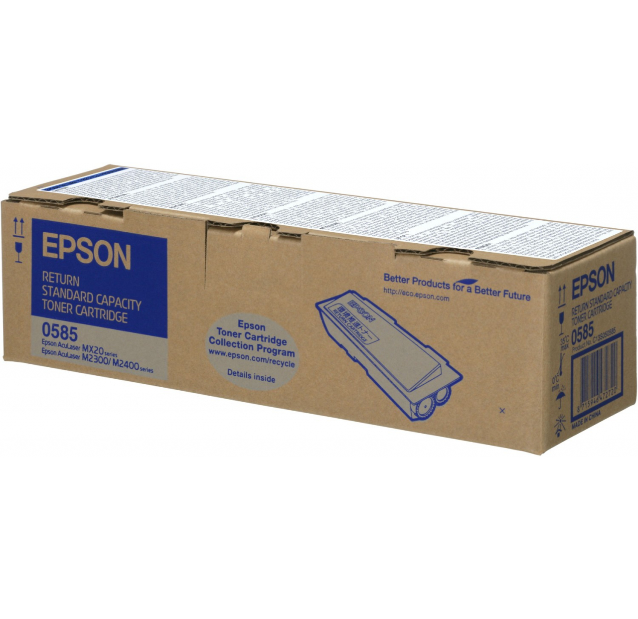 Toner Epson black|standard capacity|return|3000str|AcuLaser MX20/M2400/M2300