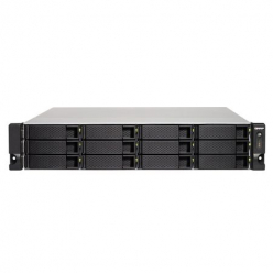 QNAP 12-Bay TurboNAS, SATA 6G, Quad Core 1,5GHz, 4GB, 4xGbE LAN, 4xUSB w/o rails