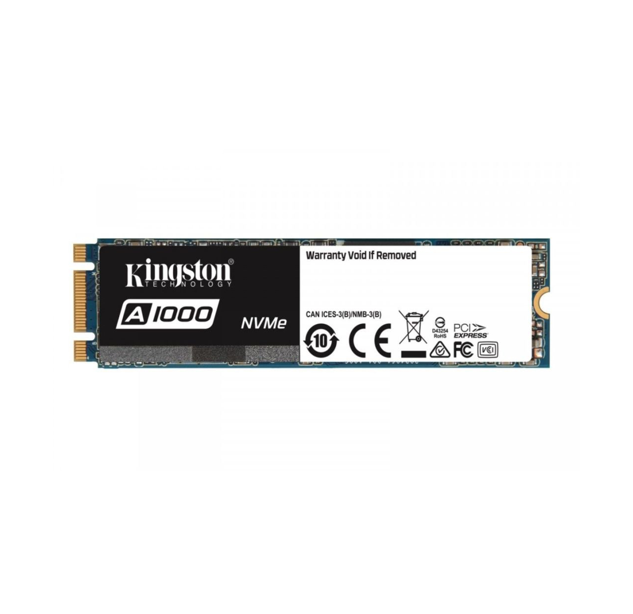 Kingston SSD A1000 M.2 2280 NVMe, 480GB, up to 1500/900MB/s*