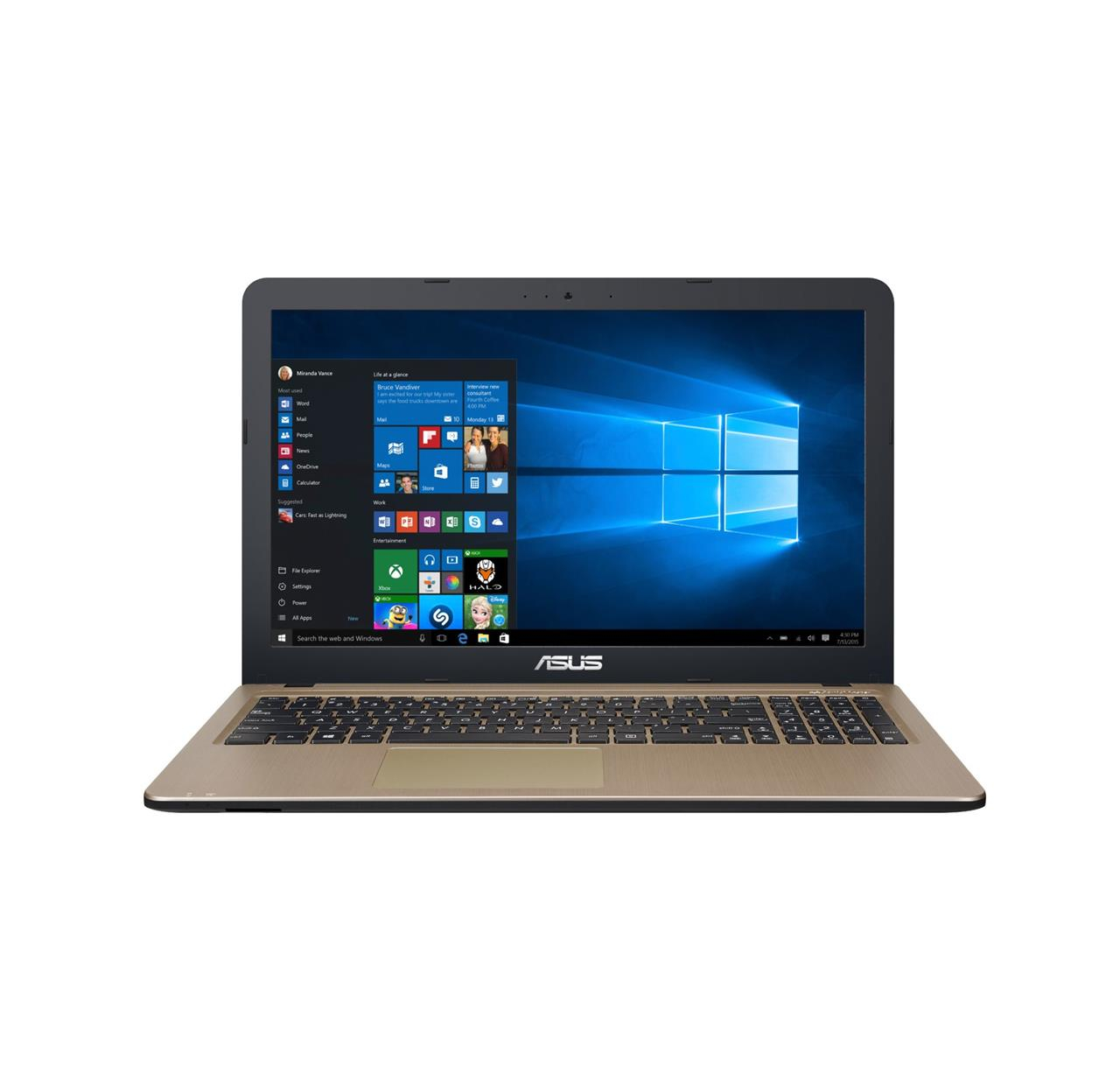 "Laptop Asus A540YA-XO683T 15,6"" E1-7010 4GB 500G"