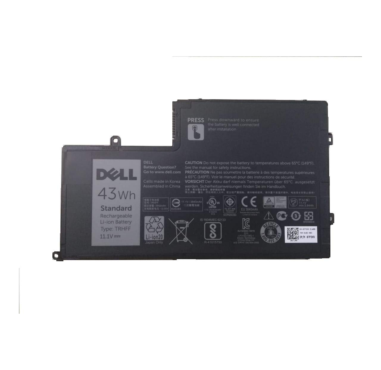 Bateria Dell 3-Cell 43WH 9JF93