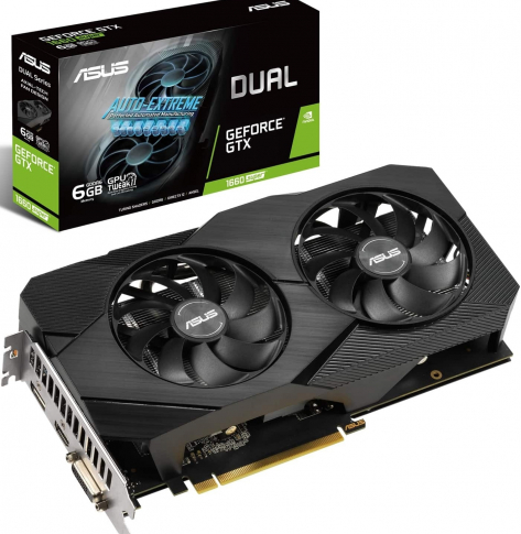 Karta graficzna Asus Dual GeForce GTX 1660 Super Advanced Edition 6GB GDDR6 EVO