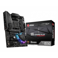 Płyta główna MSI MPG B550 GAMING PLUS ATX MB AMD AM4 DDR4 up to 128GB PCIe 4.0/ 3.0/ 2.0 x16 slot 6xSATA 6Gb/s