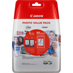 CANON Value Pack blister 4x6 Phot Paper GP-501 50sheets + XL Black & XL Colour Cartridges