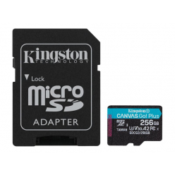 Karta pamięci KINGSTON 256GB microSDXC Canvas Go Plus 170R A2 U3 V30 Card + ADP