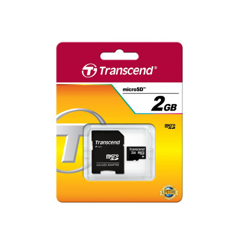 Karta pamięci Transcend Micro SD 2GB + Adapter do karty SD