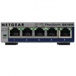 Switch  Netgear ProSafe Plus 5-Port Gigabit Desktop Metal (GS105E v2)