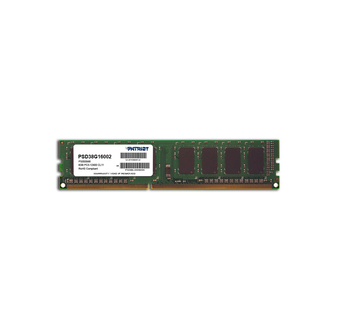 Pamięć Patriot 8GB 1600MHz DDR3 Non ECC CL11 DIMM 1.5V