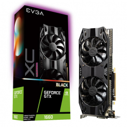 EVGA GeForce GTX 1660 XC ULTRA BLACK GAMING, 6GB GDDR5, Dual HDB Fan