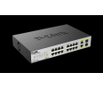 Switch  D-Link 16-Ports PoE(15.4W) Fast Ethernet Unmanaged Switch, 2 1000Base-T/SFP C