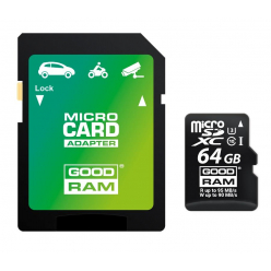 GOODRAM Karta Pamięci Micro SDXC 64GB Class 10 UHS-I + Adapter (dedicated)