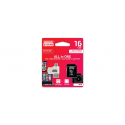 GOODRAM Karta Pamięci Micro SDHC 16GB Class 10 UHS-I All in one +adapter