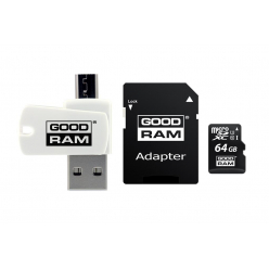 GOODRAM Karta Pamięci Micro SDXC 64GB Class 10 UHS-I All in one +adapter
