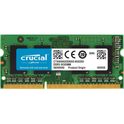 Crucial 8GB DDR3L 1600 MT/s  (PC3-12800) CL11 SODIMM 204pin 1.35V/1.5V for Mac