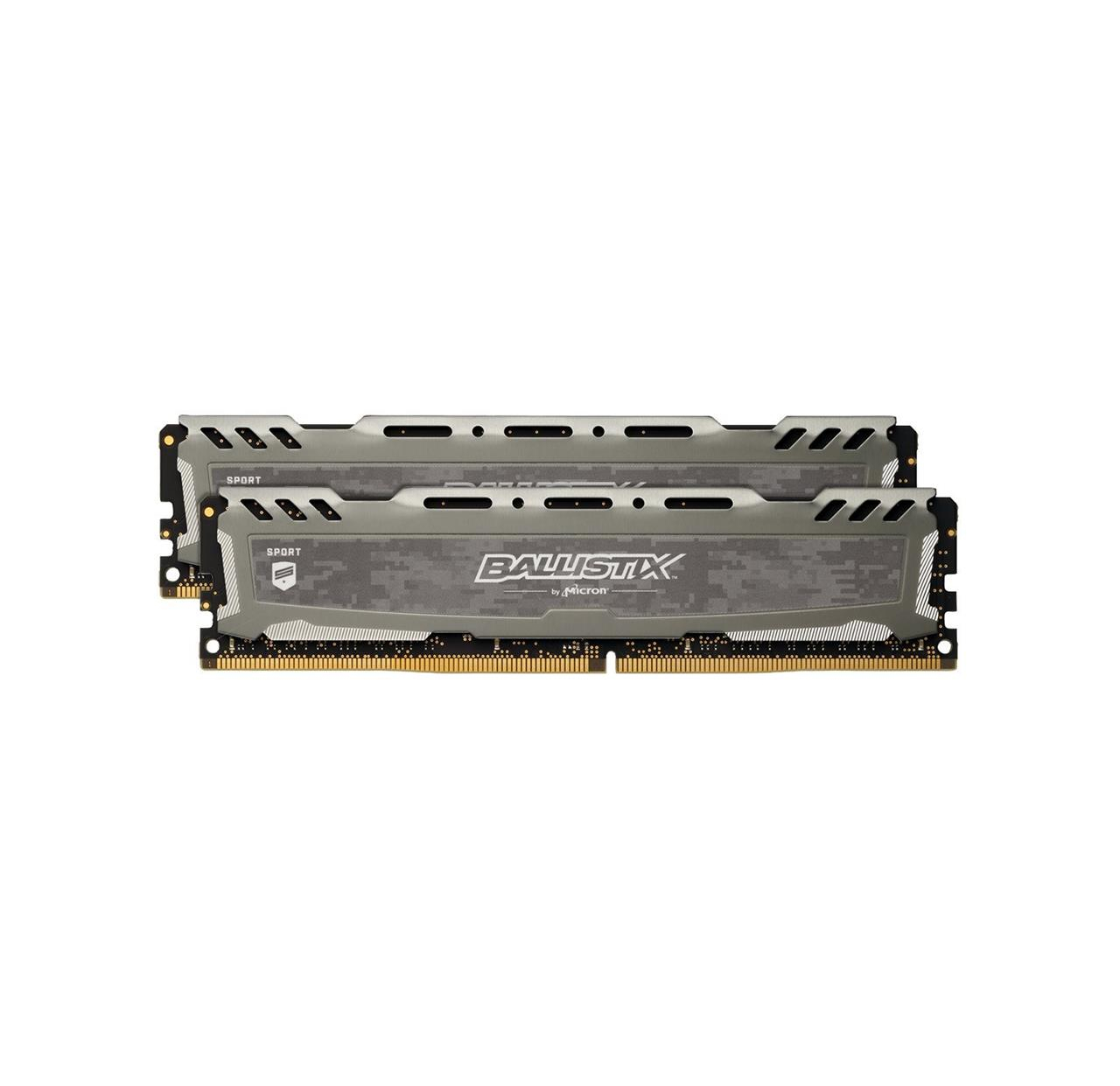 Pamięć RAM Crucial Ballistix Sport LT Gray 32GB Kit (16GBx2) DDR4 2666 CL16 DRx8 Unbuffered