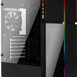 AEROCOOL PLAYA RGB TEMPERED GLASS - USB3.0, Obudowa PC bez zasilacza
