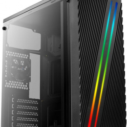 Obudowa  ATX AEROCOOL STREAK RGB USB 3.0 - DOUBLE RGB STRIP 1x80mm FAN