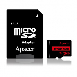 Karta Pamięci Apacer Micro SDXC 64GB Class 10 UHS-I (up to 85MB/s) +adapter