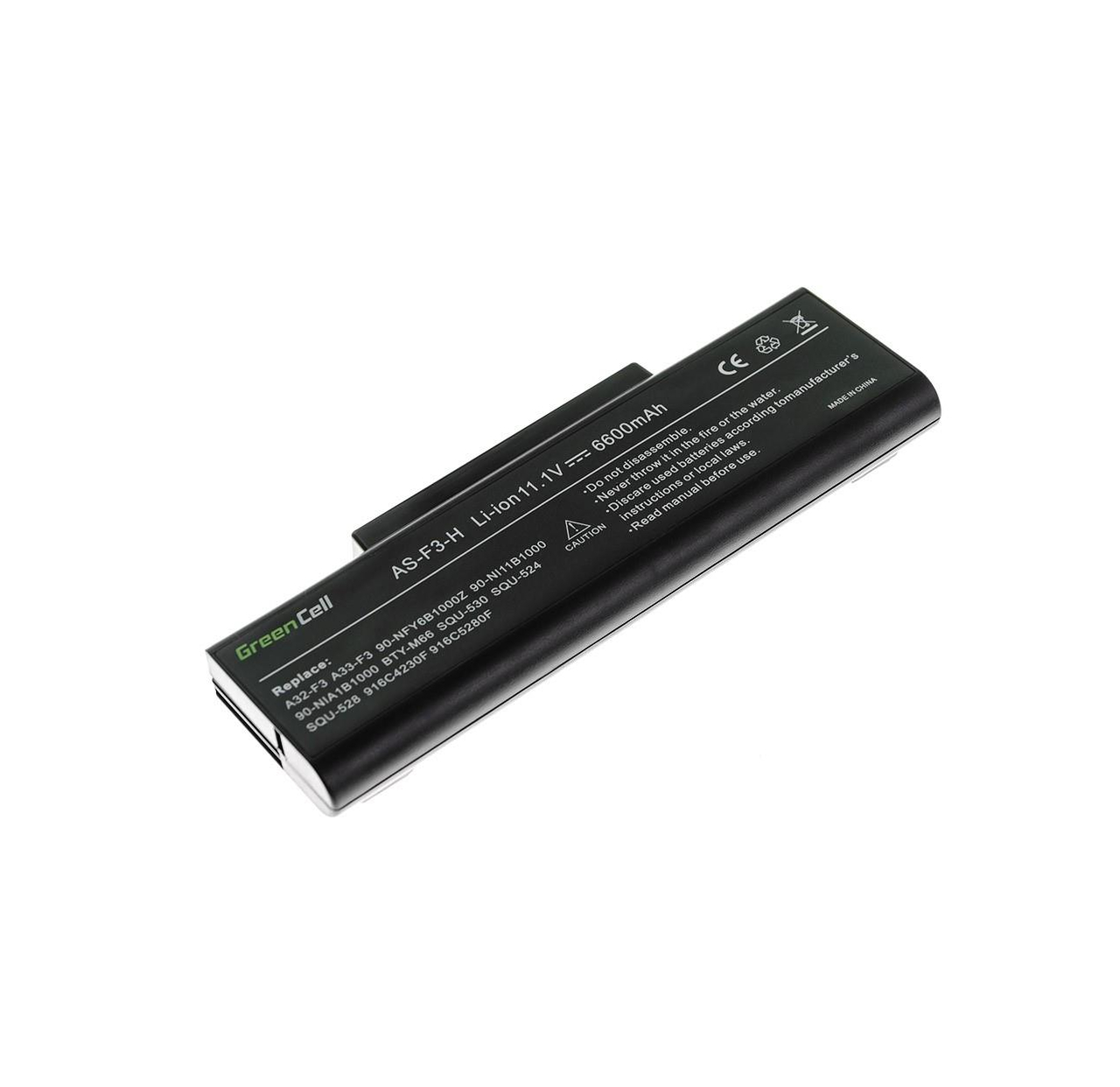 Bateria Green Cell A32-F3 do Laptopa Asus F2 F3 F3E F3F F3J F3S F3SG M51