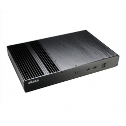 Obudowa  Akasa Thin Mini ITX Galileo T Fanless Aluminium 2 HP Cooler USB