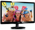 Monitor  Philips LED 21,5'' 226V4LAB; Full HD; DVI; głośniki,ES5.0, Glossy czarny