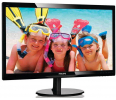 Monitor   Philips LED 24'', 246V5LSB/00; FullHD, DVI, czarny