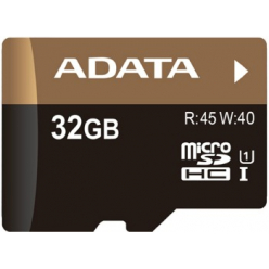 Karta Micro SDHC UHS-1 U1  ADATA 32GB (45/20MB/s - Video Full HD) + SDHC Adapter