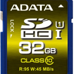 ADATA karta pamięci SDHC UHS-1 U1 32GB (R/W 95/45MB/s - Video Full HD/3D)