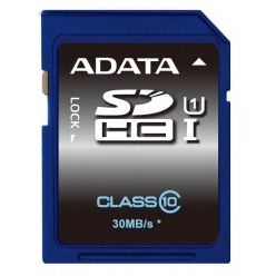 Karta pamięci ADATA 16GB SDHC UHS-1 Class 10 (do 30MB/s)  PHOTO/VIDEO FULL HD