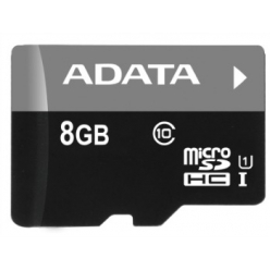 ADATA karta pamięci micro SDHC 8GB Class 10  UHS-I  (Video Full HD)