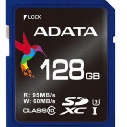 ADATA Premier Pro SDXC UHS-I U3 128GB (R/W 95/60MB/s - Video Full HD/3D)