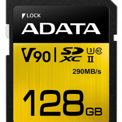Karta pamięci ADATA 128GB Premier ONE SDXC UHS-II U3 Class 10, R/W up to 290/260 MB/s