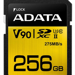 Karta pamięci ADATA 256GB Premier ONE SDXC UHS-II U3 Class 10, R/W up to 275/155 MB/s