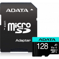 ADATA 128GB PremierPro MicroSD, R/W up to 100/80 MB/s, with Adapter