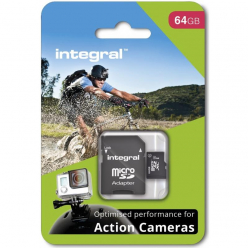 Integral micro SDHC/SDXC for Action Camera Card (tested with GoPro), 64GB