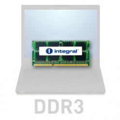 Pamięć Pamięć SODIMM Integral 2GB DDR3-1066  SoDIMM  CL7 R1 UNBUFFERED  1.5V