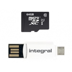Karta pamięci Integral Smartphone&Tablet microSDHC/XC Class 10 UHS-I 64GB Up To 90MB/s