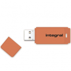 Integral USB 64GB NEON orange, USB 2.0 with removable cap