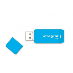 Integral USB Flash Drive Neon 64GB USB 2.0 - Blue