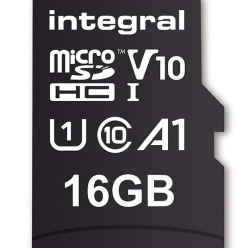 Karta pamięci Integral 16GB MICRO SDHC 100V10, Read 100MB/s  U1 V10 + ADAPTER