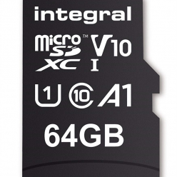 Karta pamięci Integral 64GB MICRO SDXC 100V10, Read 100MB/s  U1 V10 + ADAPTER