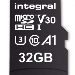 Integral 32GB MICRO SDHC 70V30, R:100MB/s W:70MB/s U3 V30 + ADAPTER