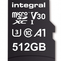 Integral 512GB MICRO SDXC 80V30, R:100MB/s W:80MB/s U3 V30 + ADAPTER