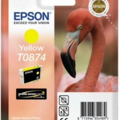 Tusz Epson T0874 yellow Retail Pack BLISTER | Stylus Photo R1900